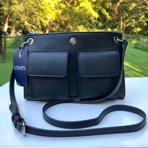 New black Chaps crossbody bag